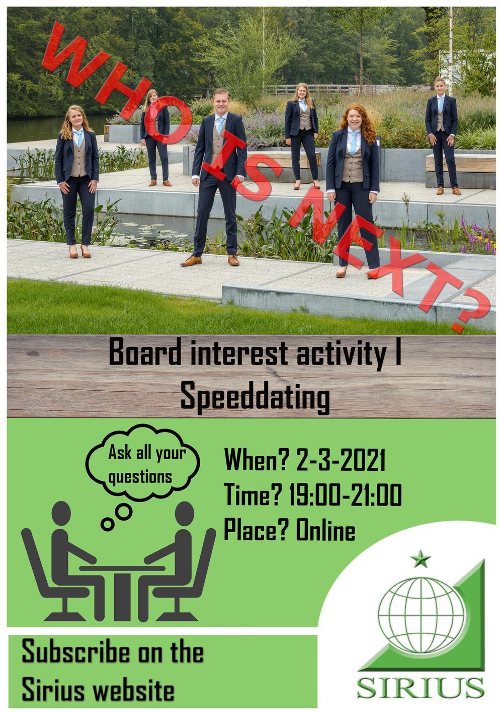 Board Interest Activity: Speeddates